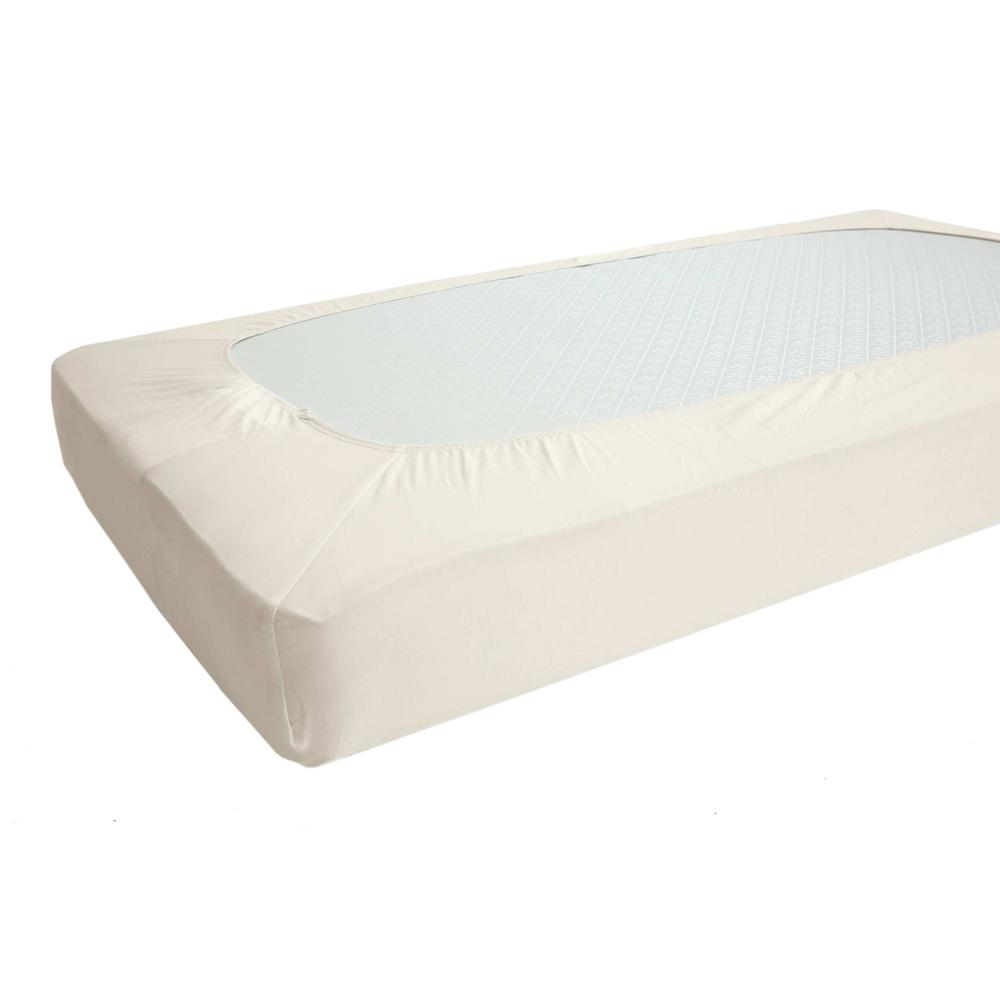 Fitted Sheet for Full Size Crib, White. Picture 3