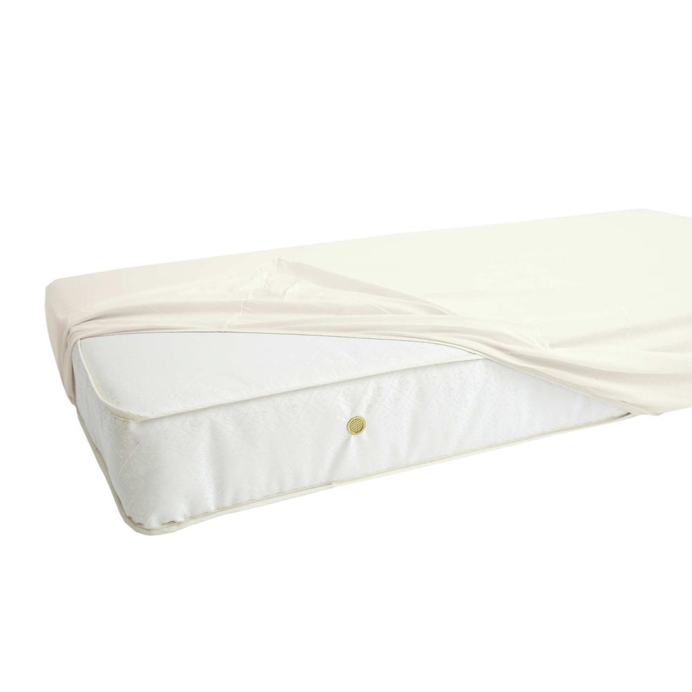 Fitted Sheet for Full Size Crib, White. Picture 4