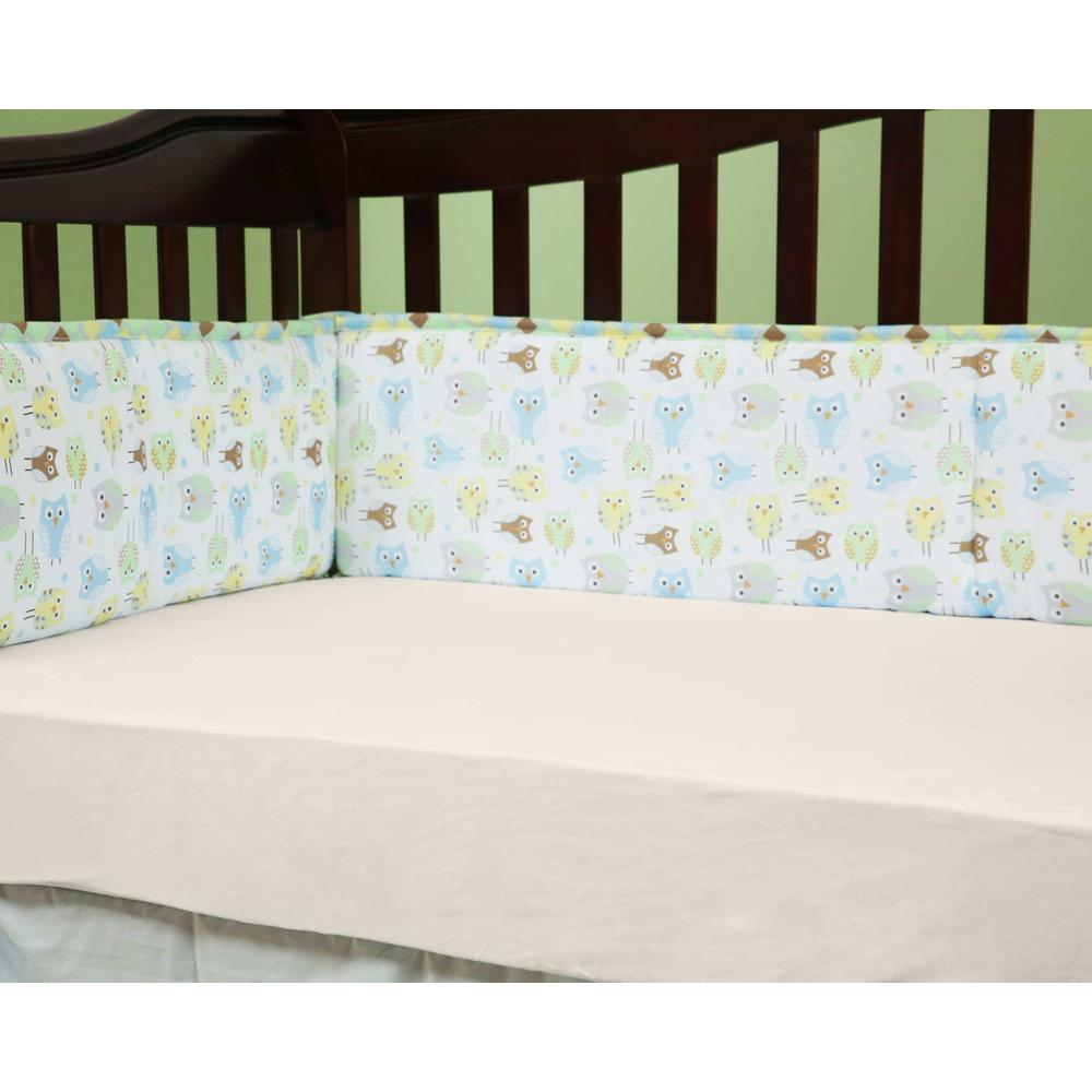 Fitted Sheet for Full Size Crib, White. Picture 5