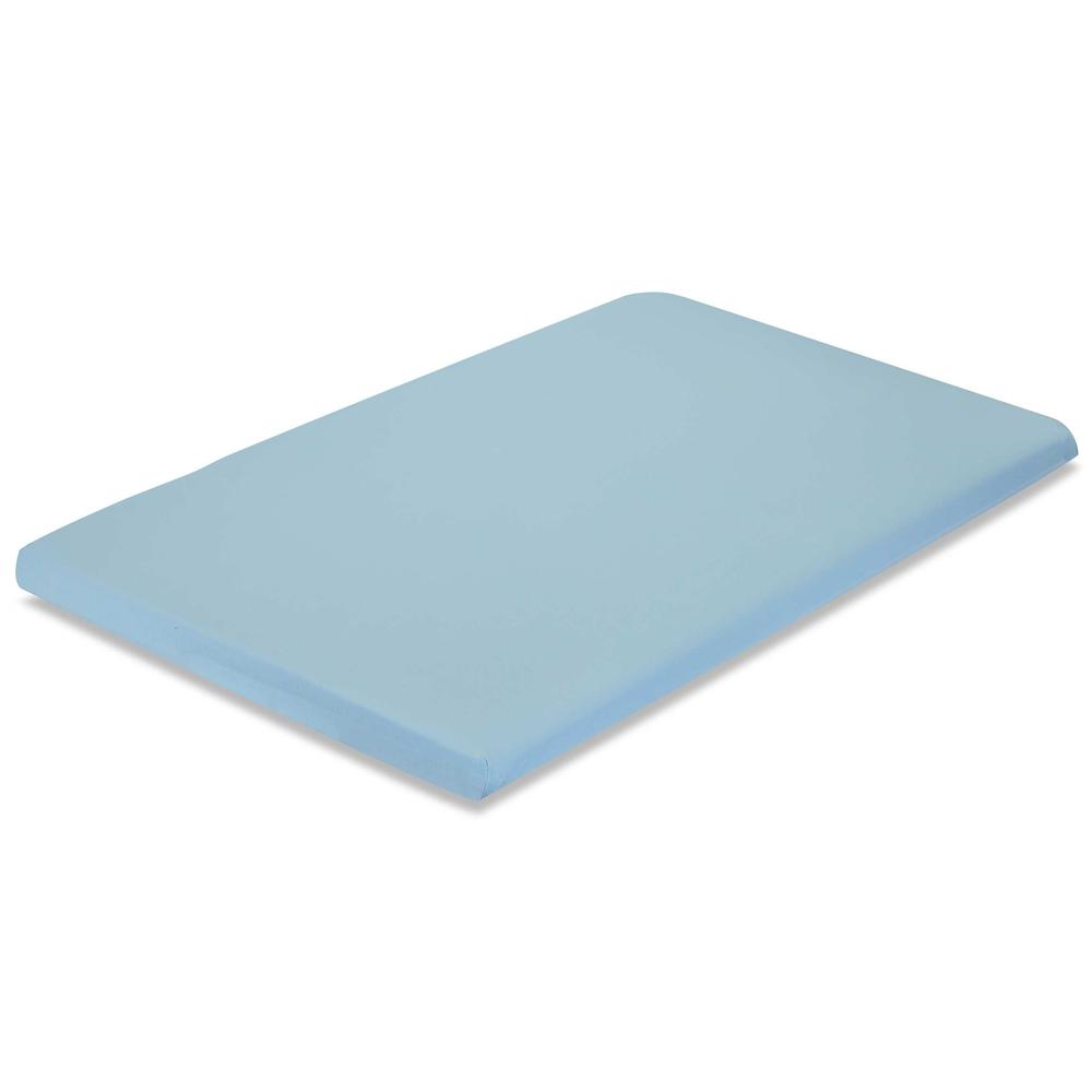 Knitted Fitted Sheet for Compact Crib Mattress Natural 100% Cotton Fabric, Mint. Picture 1