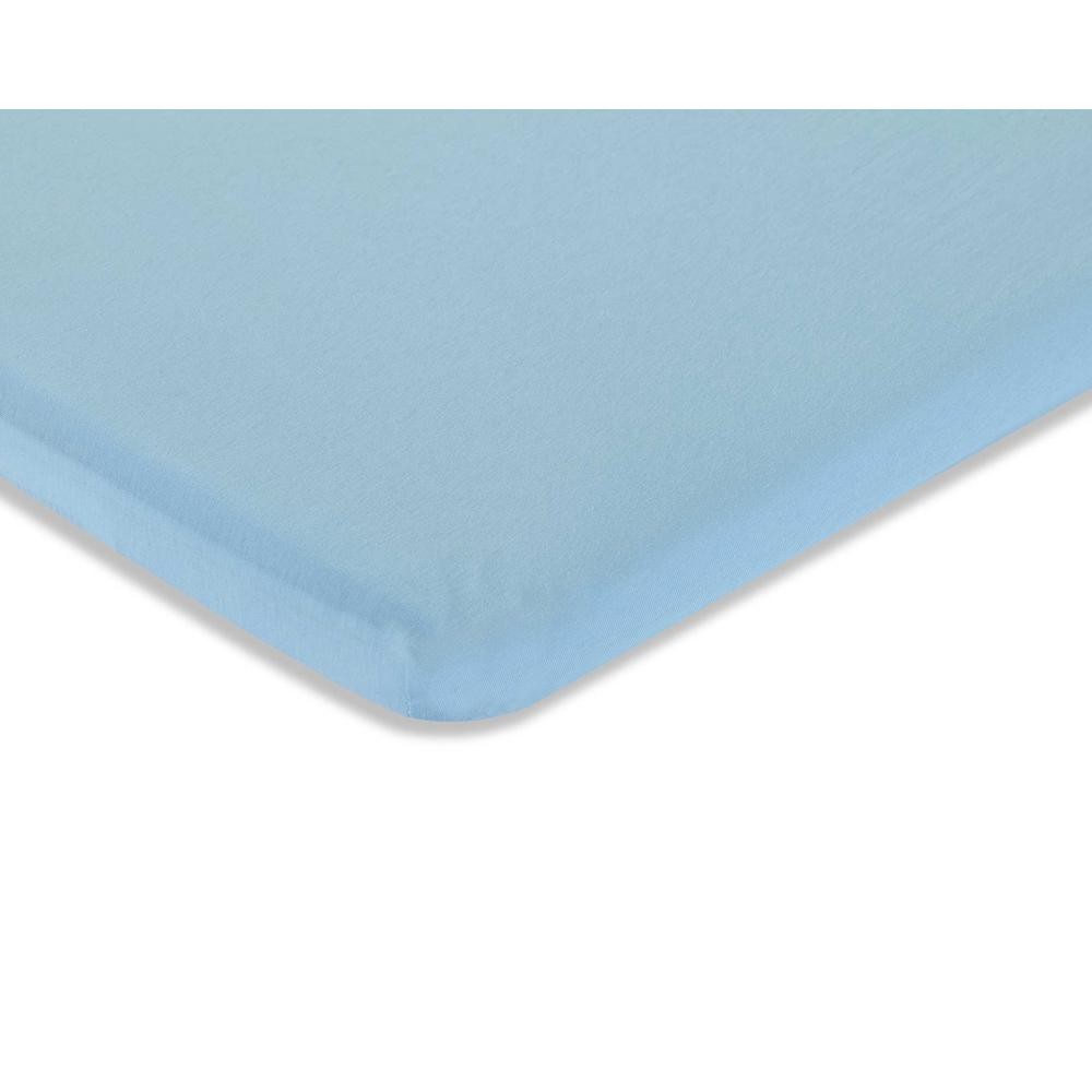 Knitted Fitted Sheet for Compact Crib Mattress Natural 100% Cotton Fabric, Mint. Picture 2
