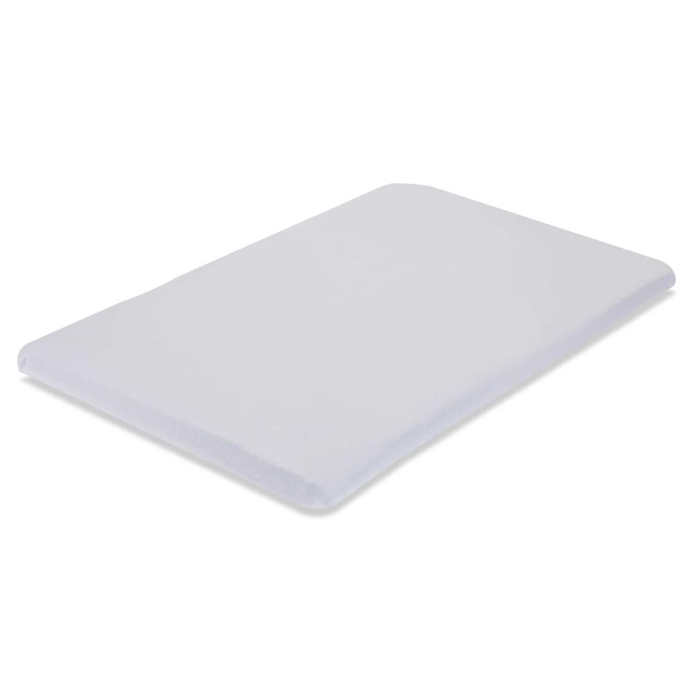 Knitted Fitted Sheet for Compact Crib Mattress Natural 100% Cotton Fabric, White. Picture 1