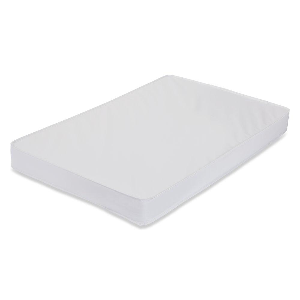 3-inch Compact Crib Mattress, White. Picture 1