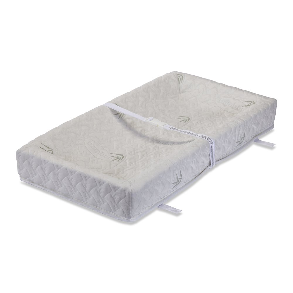 """32"""" 4 Sided Changing Pad with Blended Viscose from Bamboo Quilted Cover. Picture 1"""