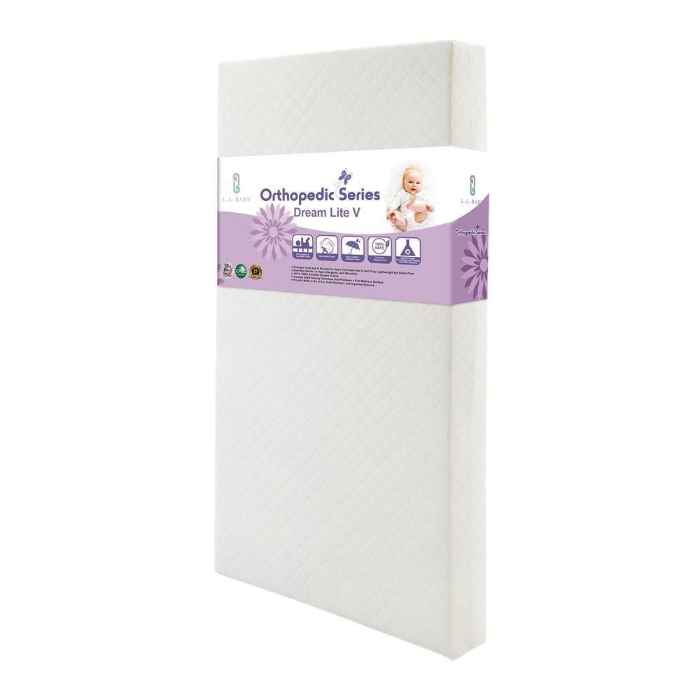 Dream Lite V Crib Mattress with Organic Cotton Layer and Seamless Edge. Picture 1