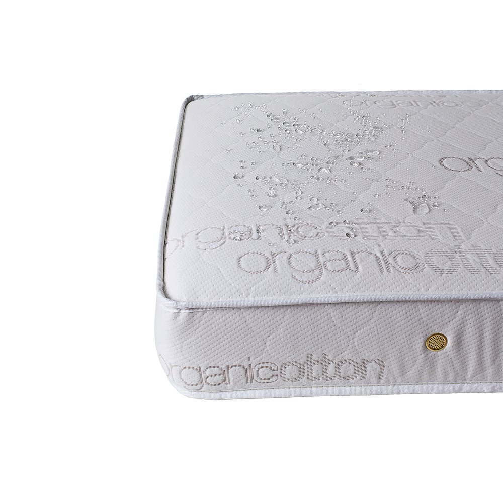 Natural Triple Zone 2 in 1 Soy Foam Crib Mattress with Blended Organic Cotton Cover. Picture 5