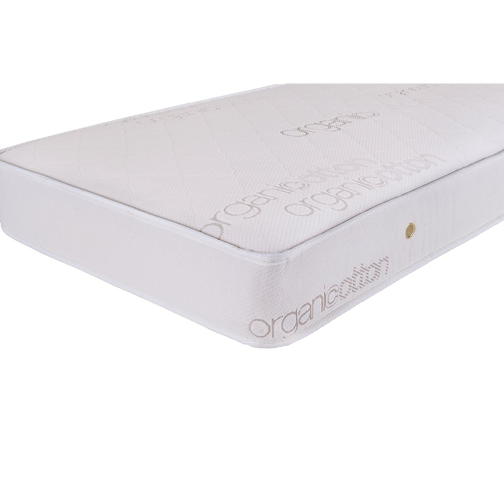 Natural Triple Zone 2 in 1 Soy Foam Crib Mattress with Blended Organic Cotton Cover. Picture 6