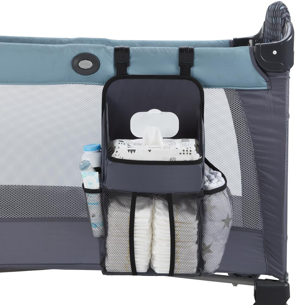 Universal Playard Nursery Organizer and Diapers Organizer | Baby Diaper Caddy for Baby's Essentials - Gray. Picture 1