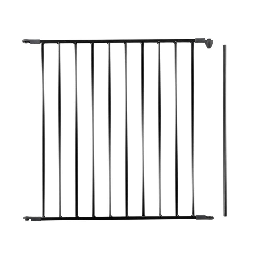 "Flex Safety Gate Extension Panel 28.4"", Black. Picture 1"