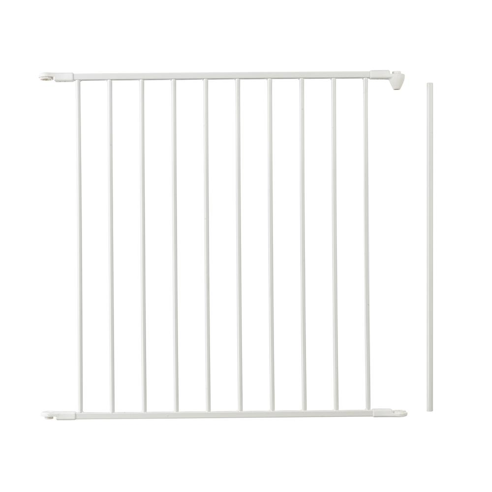 "Flex Safety Gate Extension Panel 28.4"", White. Picture 1"
