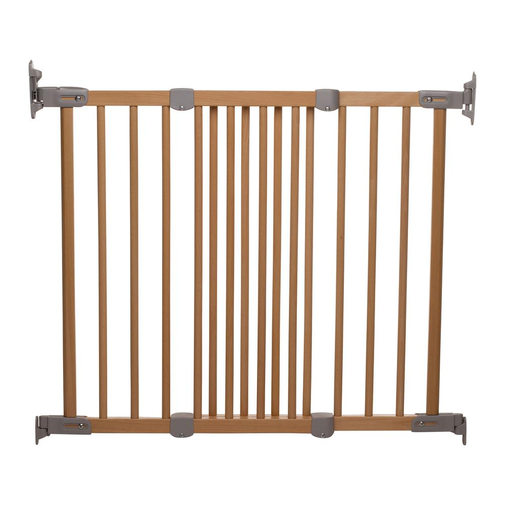 """Flexi Fit Angle Mount Safety Gate 27.2"""" - 41.9"""", Beechwood. Picture 4"""