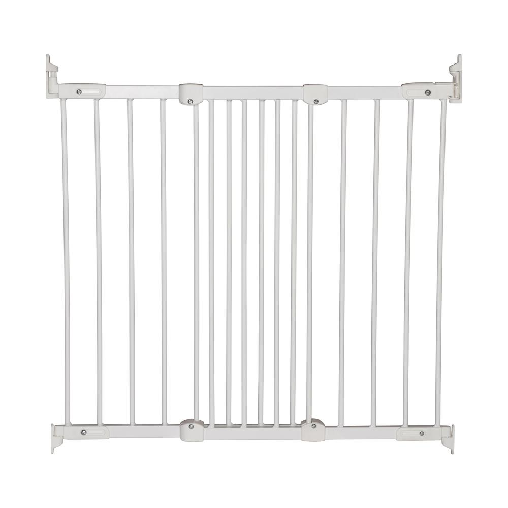 """Flexi Fit Angle Mount Safety Gate 26.4"""" - 41.5"""", White Metal. Picture 4"""