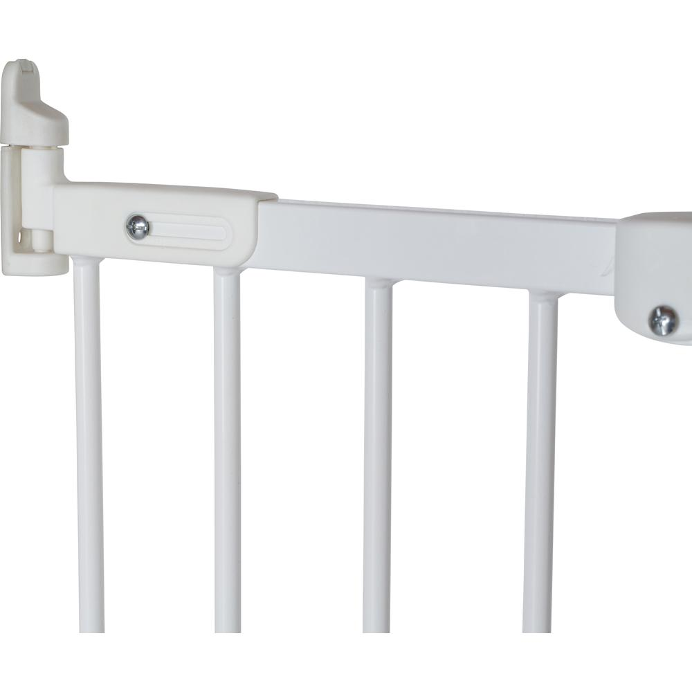 """Flexi Fit Angle Mount Safety Gate 26.4"""" - 41.5"""", White Metal. Picture 2"""