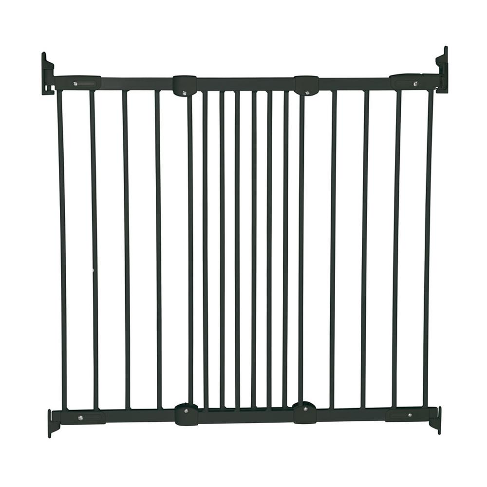"""Flexi Fit Angle Mount Safety Gate 26.4"""" - 41.5"""", Black Metal. Picture 2"""