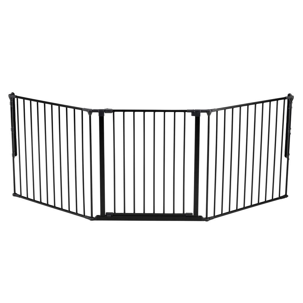 "Flex L Safety Gate 35.4"" - 87.8"", Black. Picture 5"