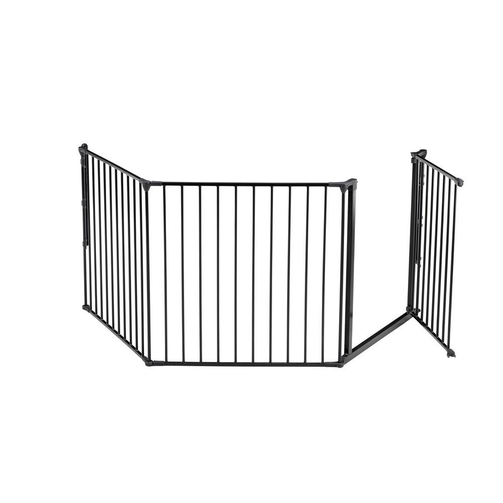 "Flex L Safety Gate 35.4"" - 87.8"", Black. Picture 4"
