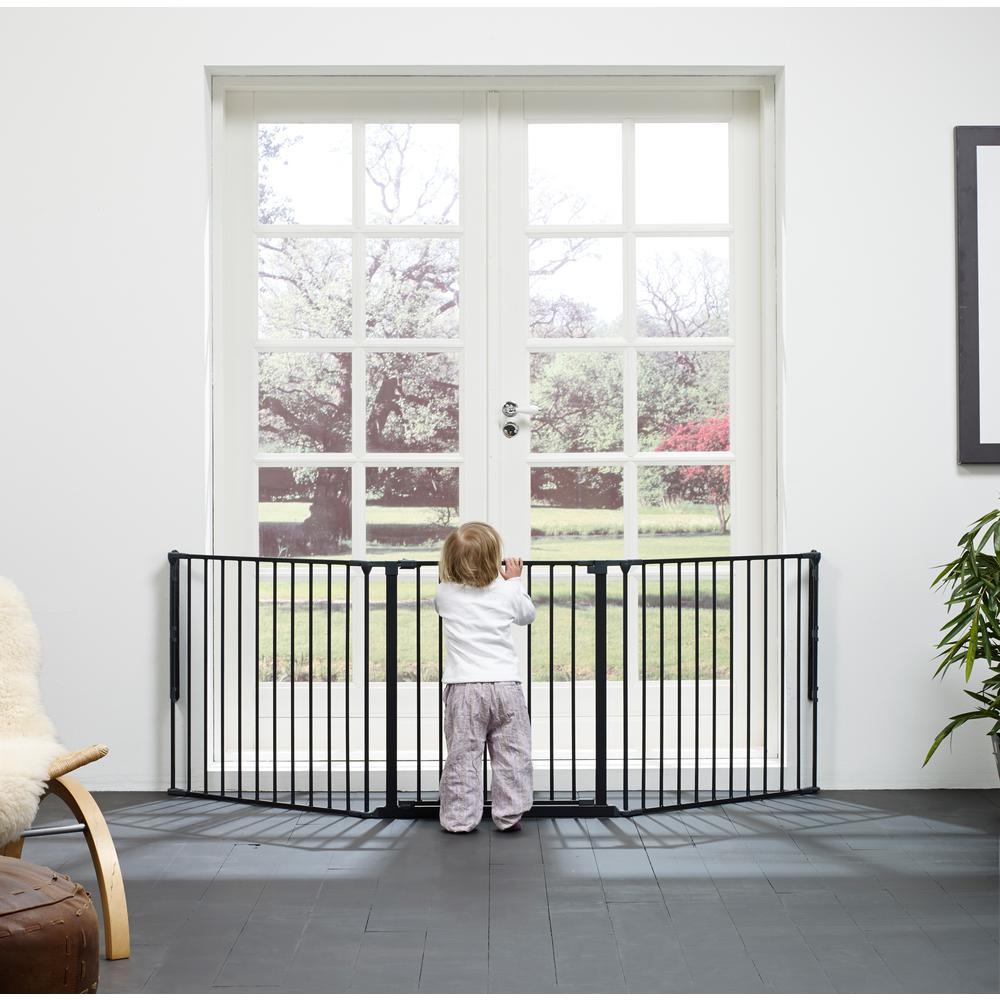 "Flex L Safety Gate 35.4"" - 87.8"", Black. Picture 3"