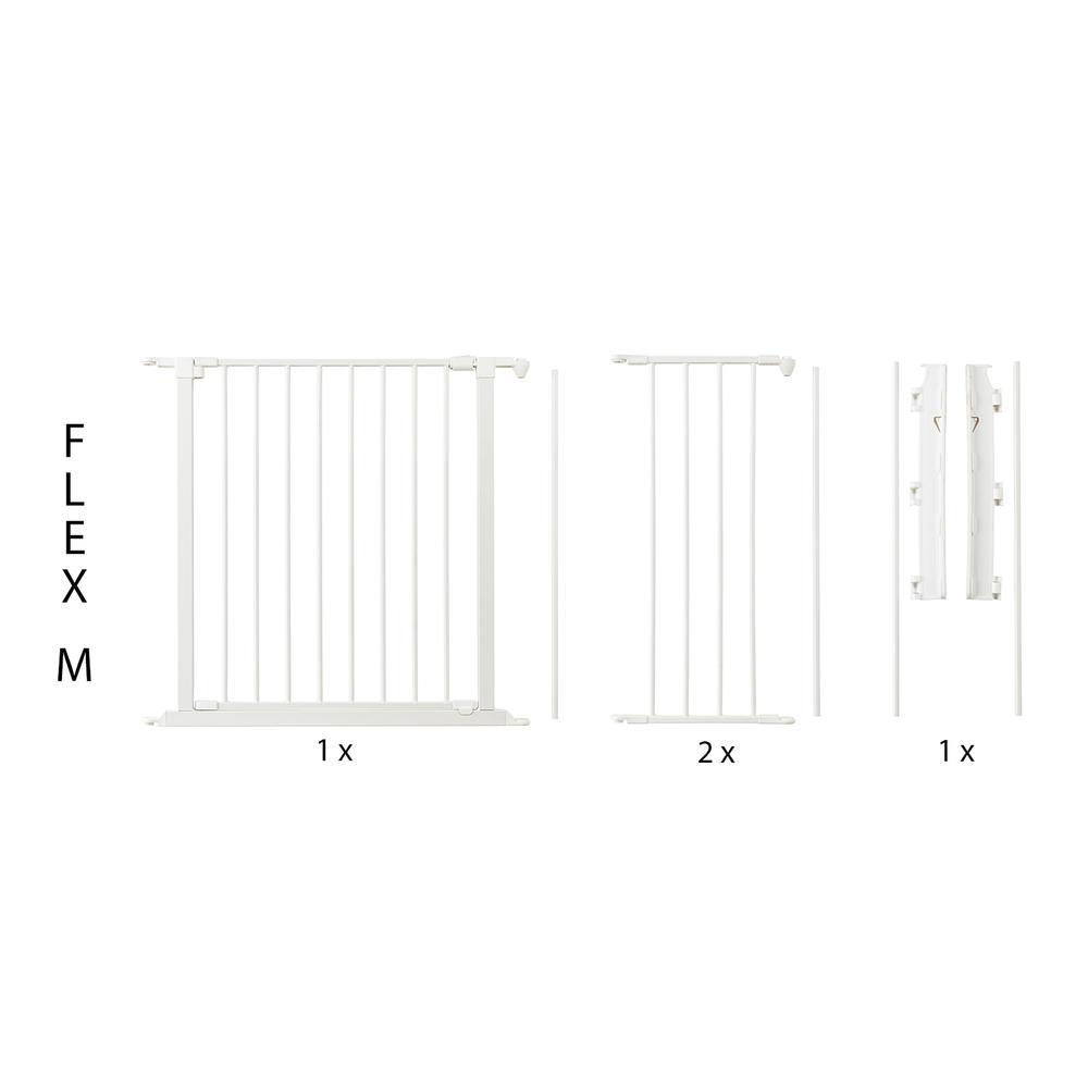 "Flex M Safety Gate 35.4"" - 57.5"", White. Picture 1"