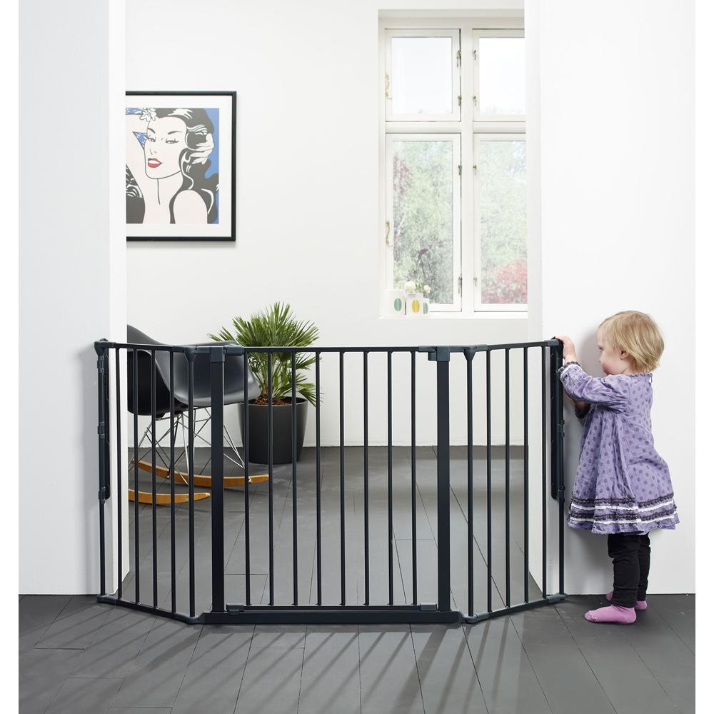 "Flex M Safety Gate 35.4"" - 57.5"", Black. Picture 2"