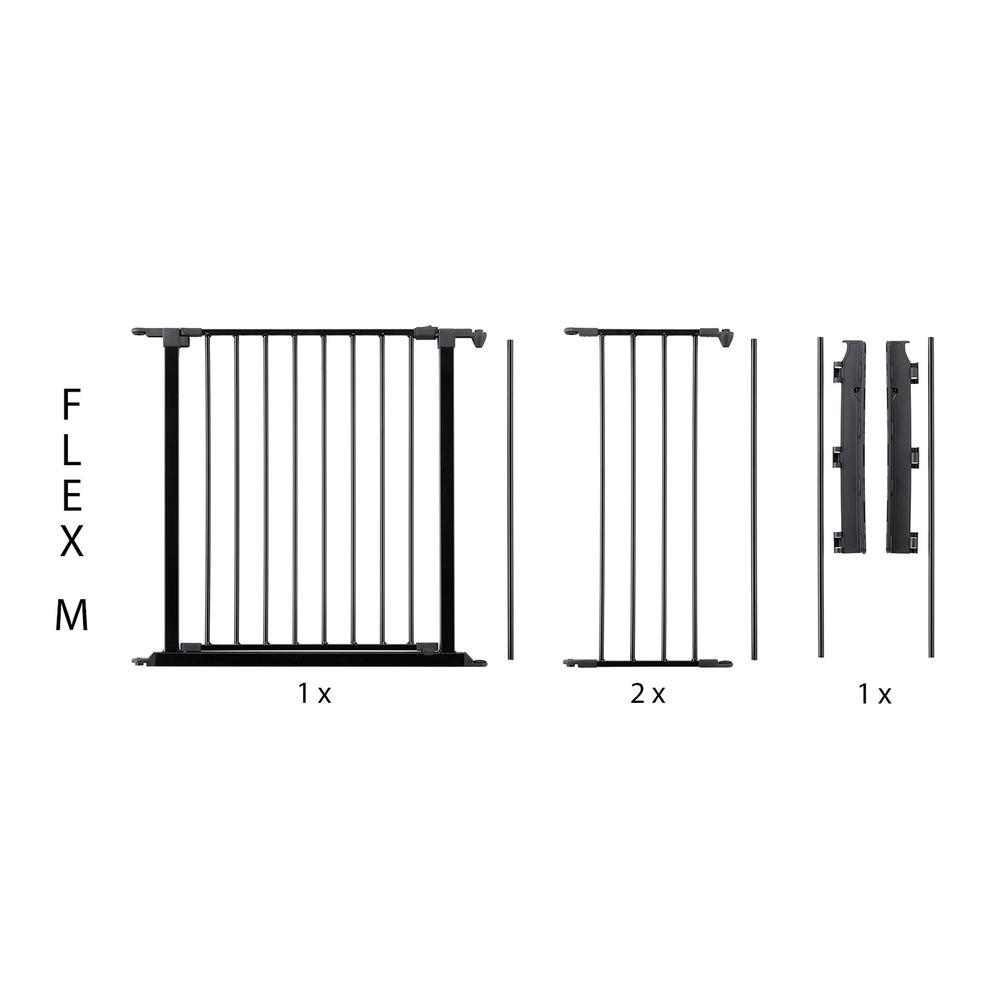 "Flex M Safety Gate 35.4"" - 57.5"", Black. Picture 1"