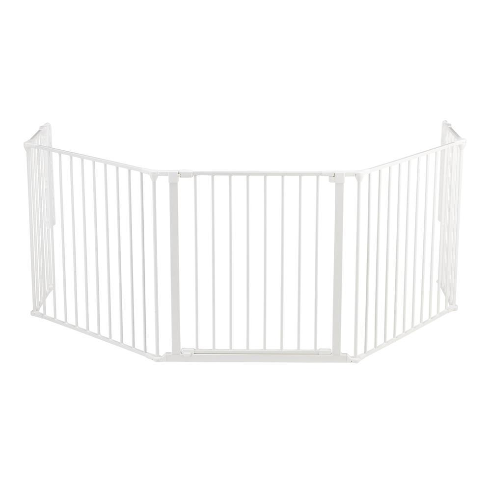 "Flex XL Hearth Safety Gate 35.4"" - 109.5"", White. Picture 5"