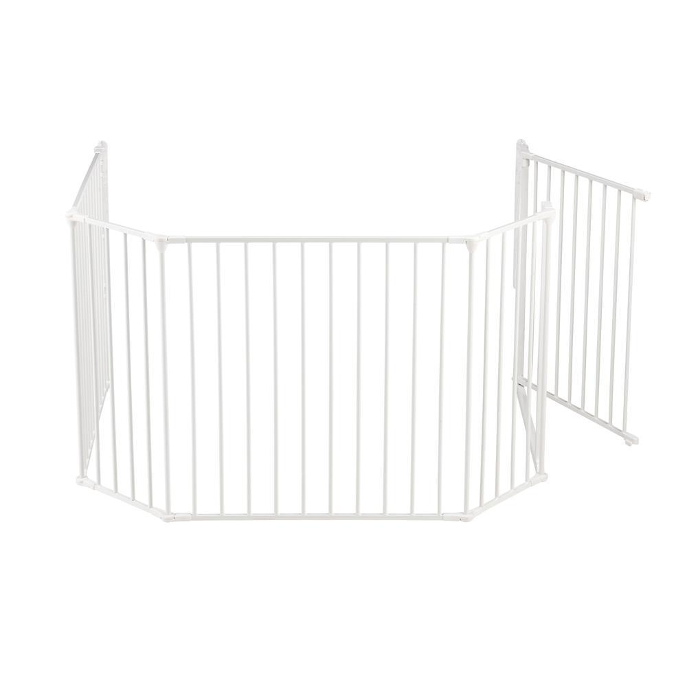 "Flex XL Hearth Safety Gate 35.4"" - 109.5"", White. Picture 4"