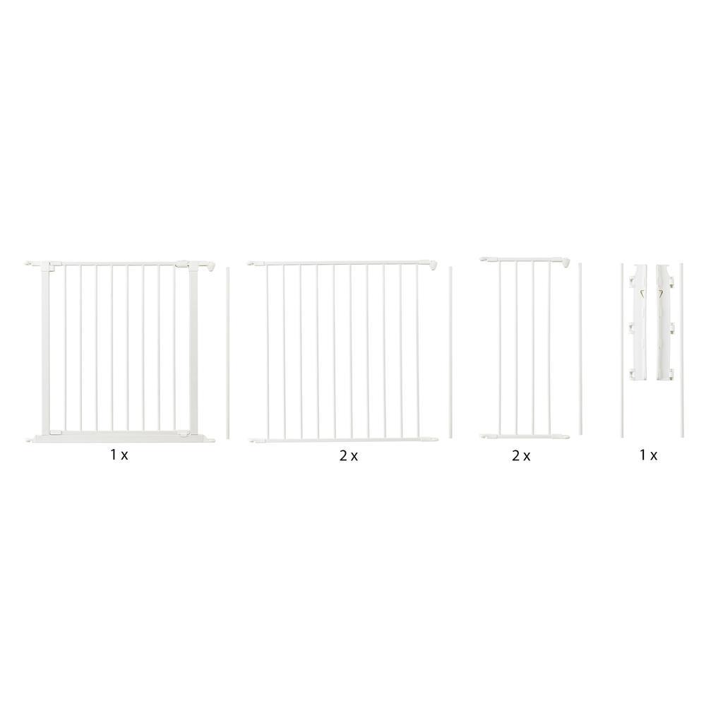 "Flex XL Hearth Safety Gate 35.4"" - 109.5"", White. Picture 1"