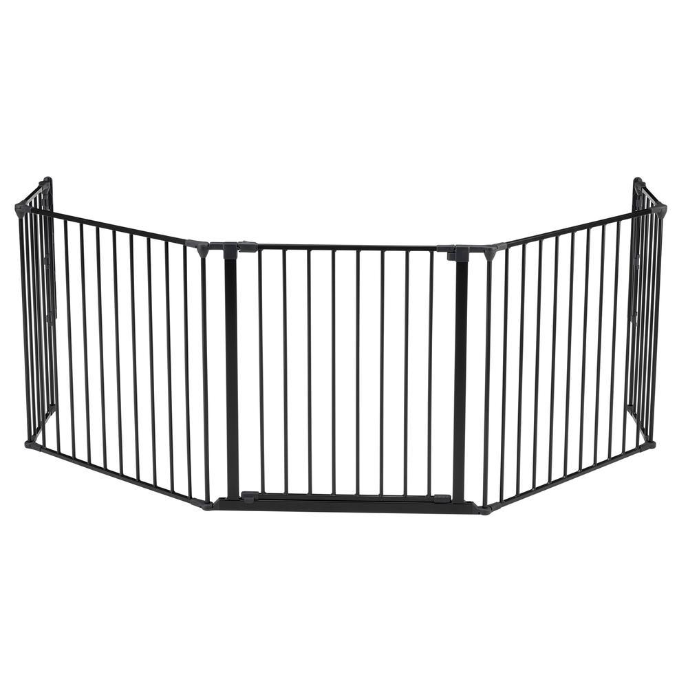 "Flex XL Hearth Safety Gate 35.4"" - 109.5"", Black. Picture 6"