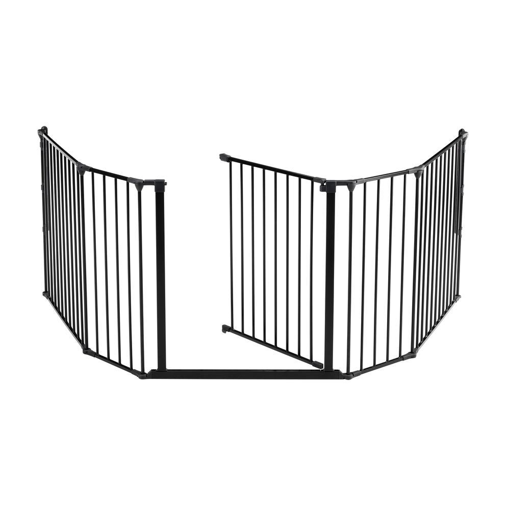 "Flex XL Hearth Safety Gate 35.4"" - 109.5"", Black. Picture 5"