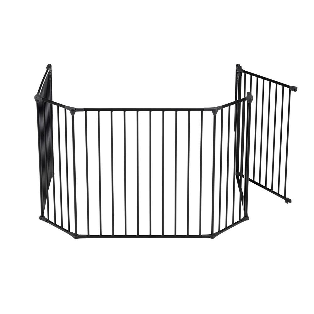 "Flex XL Hearth Safety Gate 35.4"" - 109.5"", Black. Picture 4"