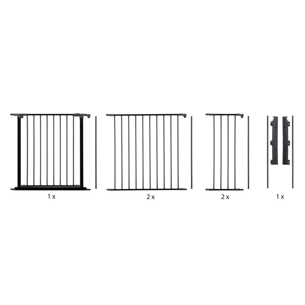 "Flex XL Hearth Safety Gate 35.4"" - 109.5"", Black. Picture 1"