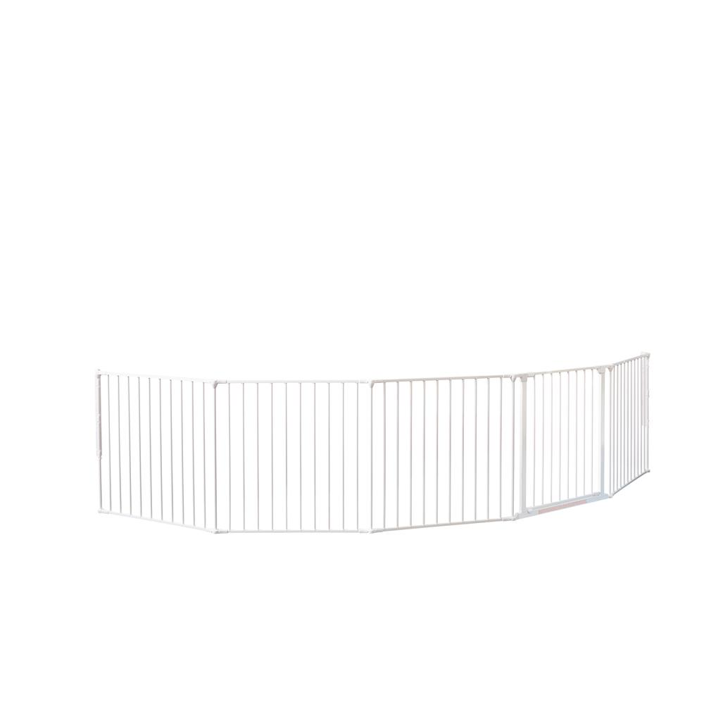 "Flex XXL Room Divider Safety Gate, Play Space 35.4"" - 138"", White. Picture 4"