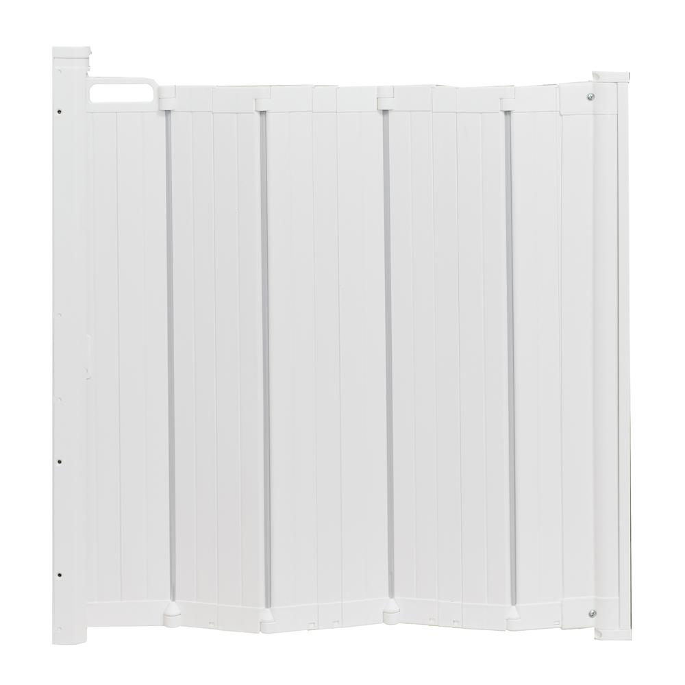 "Guard Me Auto Retractable Safety Gate, 36"", White. Picture 6"