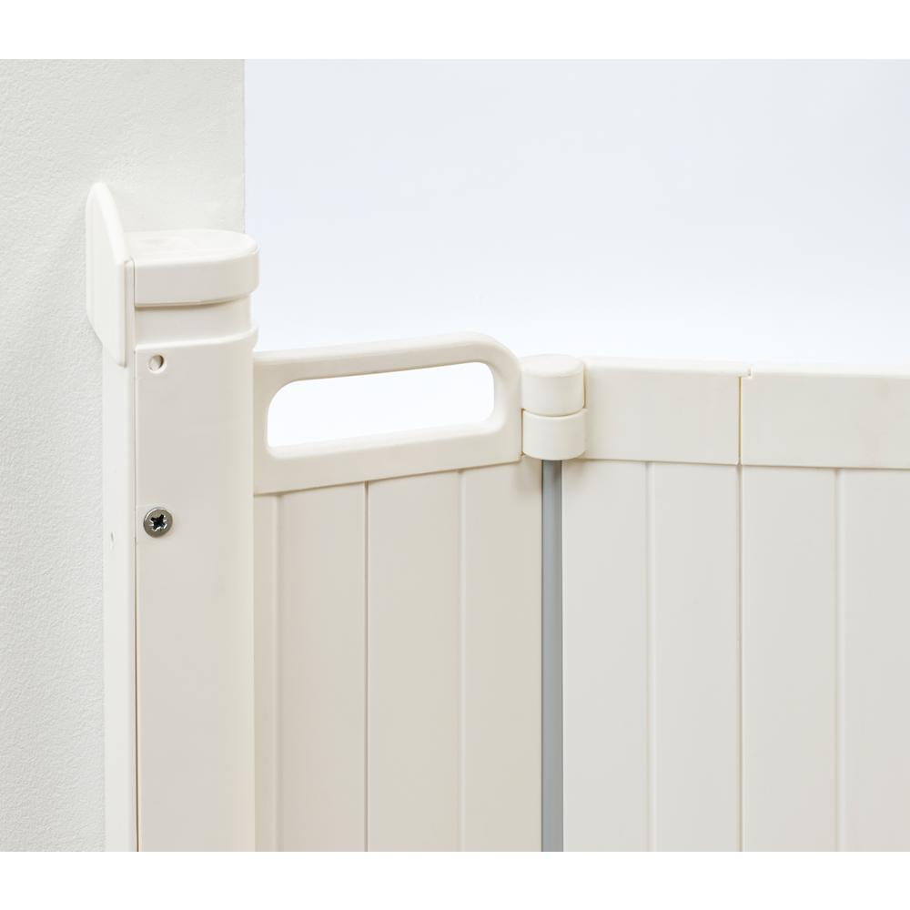 "Guard Me Auto Retractable Safety Gate, 36"", White. Picture 4"