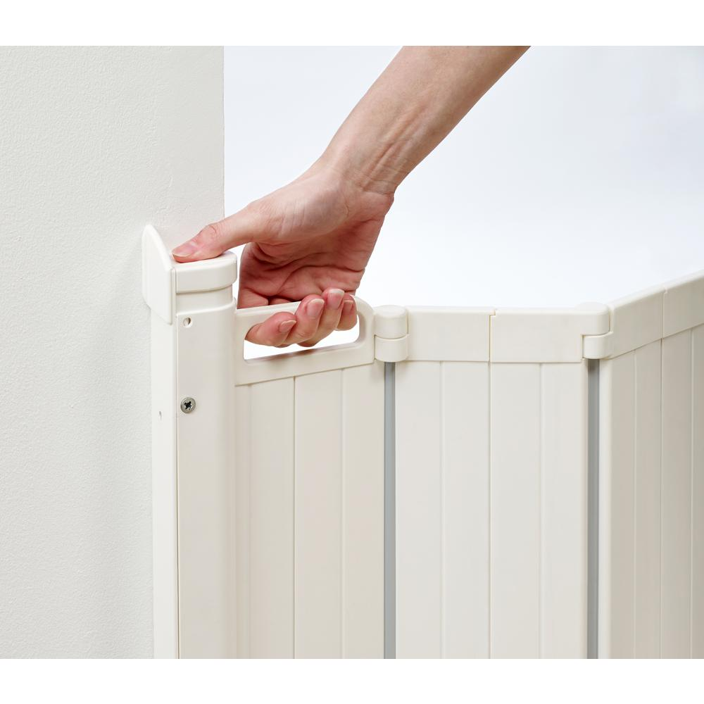 "Guard Me Auto Retractable Safety Gate, 36"", White. Picture 3"