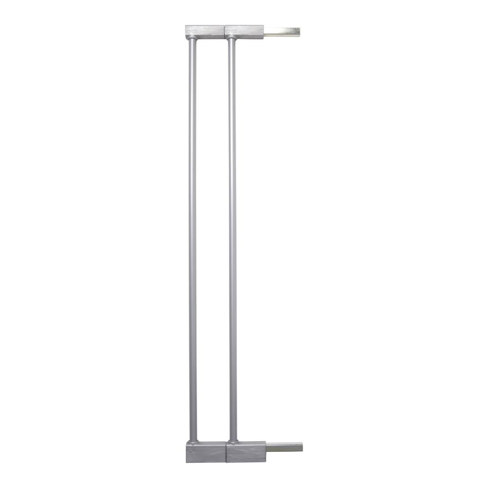 """2 x 2.8"""" Extension Kit for the Premier Pressure Mount Safety Gate, Silver. Picture 1"""