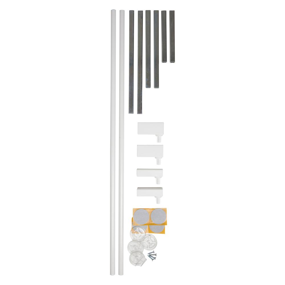 """2 x 2.8"""" Extension Kit for the Premier Pressure Mount Safety Gate, White. Picture 4"""