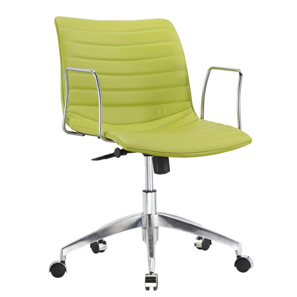 Comfy Office Chair Mid Back Green