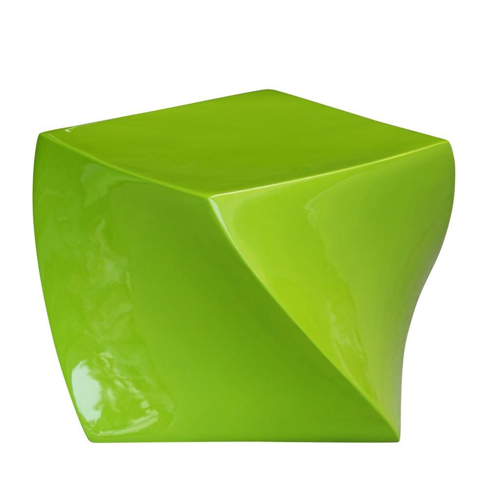 Cube Ottoman Green