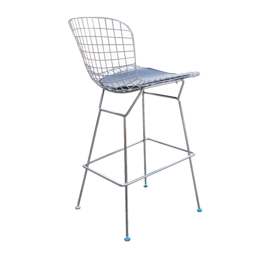 Wire Counter Height Chair Black