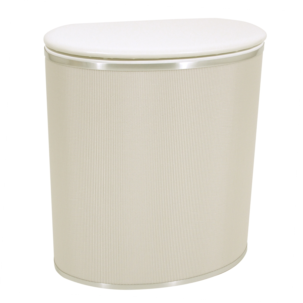 Pearl White Bowed Front Hamper Pearl White