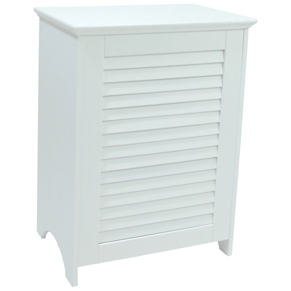 Contemporary Country Louvered Front Hamper. Picture 1