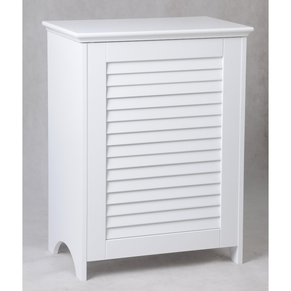 Contemporary Country Louvered Front Hamper. Picture 2