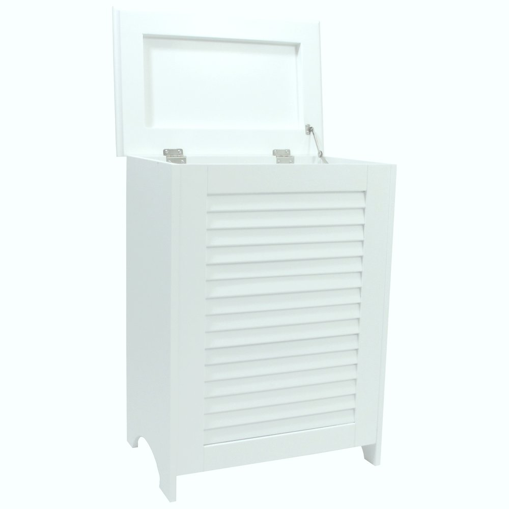 Contemporary Country Louvered Front Hamper. Picture 3