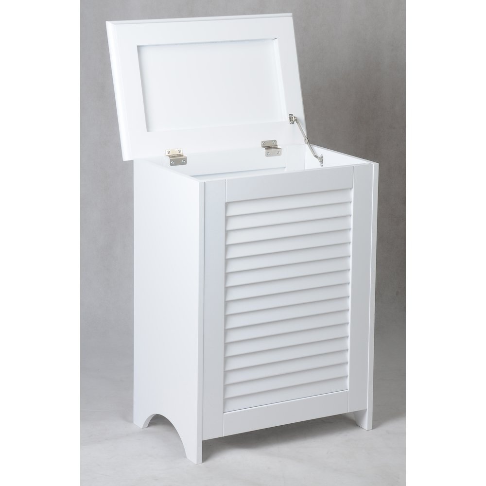 Contemporary Country Louvered Front Hamper. Picture 4