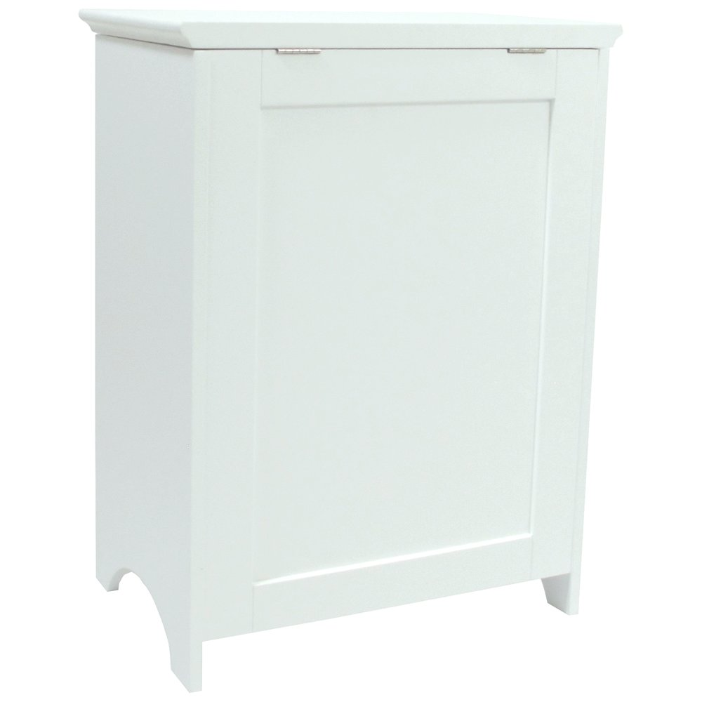 Contemporary Country Louvered Front Hamper. Picture 5