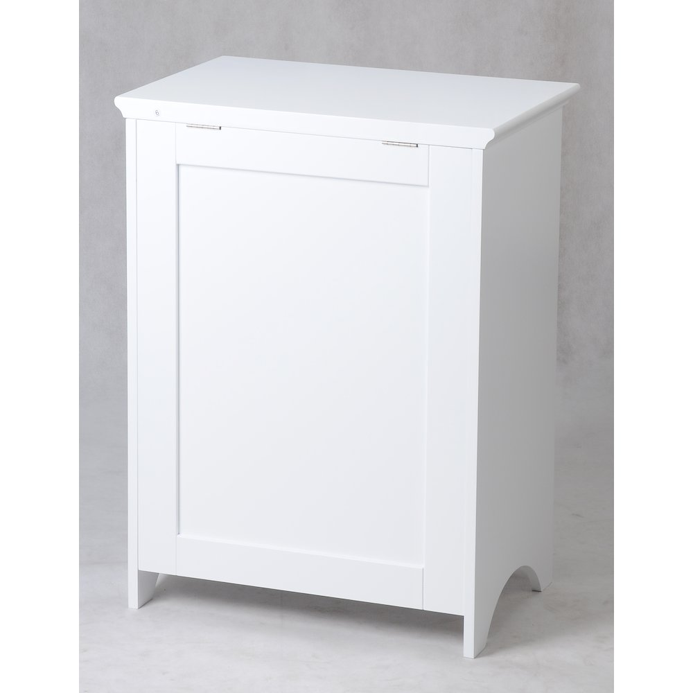 Contemporary Country Louvered Front Hamper. Picture 6