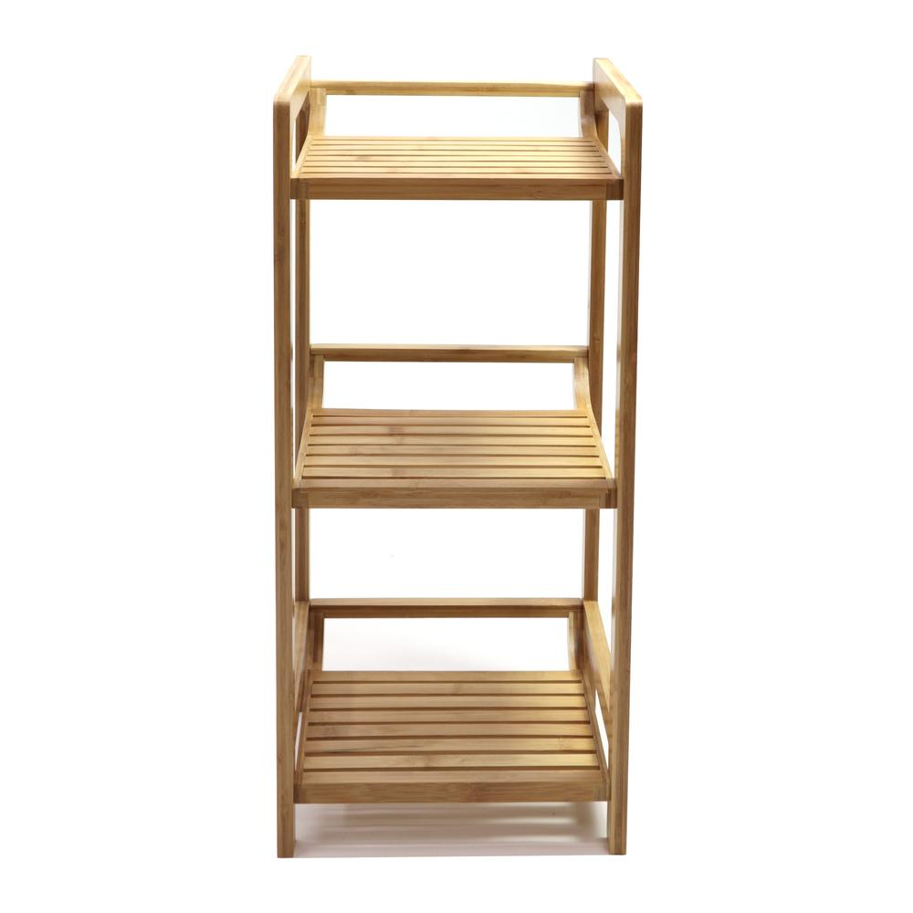 Bamboo 3 Tier Shelf. Picture 1
