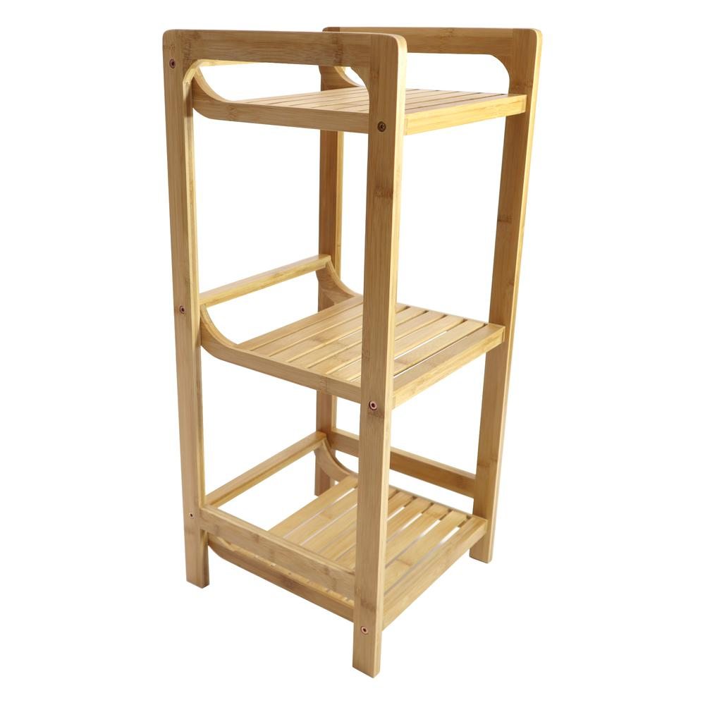 Bamboo 3 Tier Shelf. Picture 2