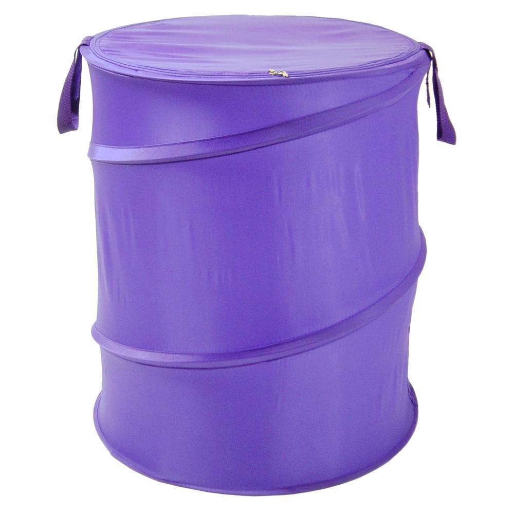 The Original Bongo Bag - Pop Up Hamper, Purple. Picture 1